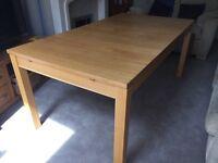 Ikea Bjursta oak dining table