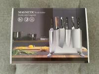 Stainless Steel Double Side Magnetic Knife Block Holder Rack