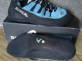 climbing shoes,new,boreal joker ,size small uk 12