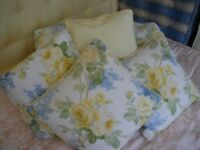 KING SIZE BED COVER AND MATCHING CUSHIONS