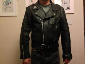 Vintage leather jacket size 42