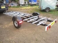 UNIQUE 12 BICYCLE TRANSPORTER ROAD TRAILER.......AS NEW......