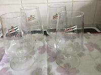 BEER GLASSES SET of 4 SAN MIGUEL CHALICE PINT GLASSES