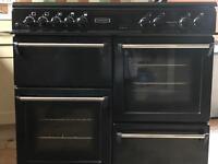Black gas Leisure Range Cooker 100cm
