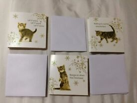 9 Cat Christmas Cards