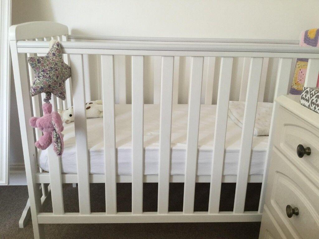 reputable site 301e3 c3c06 *Bundle* Rafferty Baby Cot Bed + Sprung Compact Cot Mattress + Mattress  Protector & Sheets   in Cambridge, Cambridgeshire   Gumtree