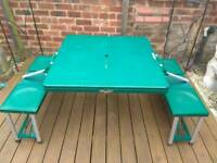 Folding camping / picnic bench with 4 seats