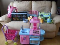 Childrens kitchen with lots of assessories