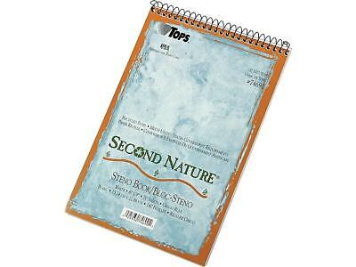 Tops Second Nature Steno Pad 6 X 9 Gregg Ruled White 811110