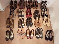 Shoes 20 pairs of ladies shoes size 7.