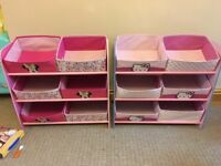 Minnie Mouse and hello kitty storage bins