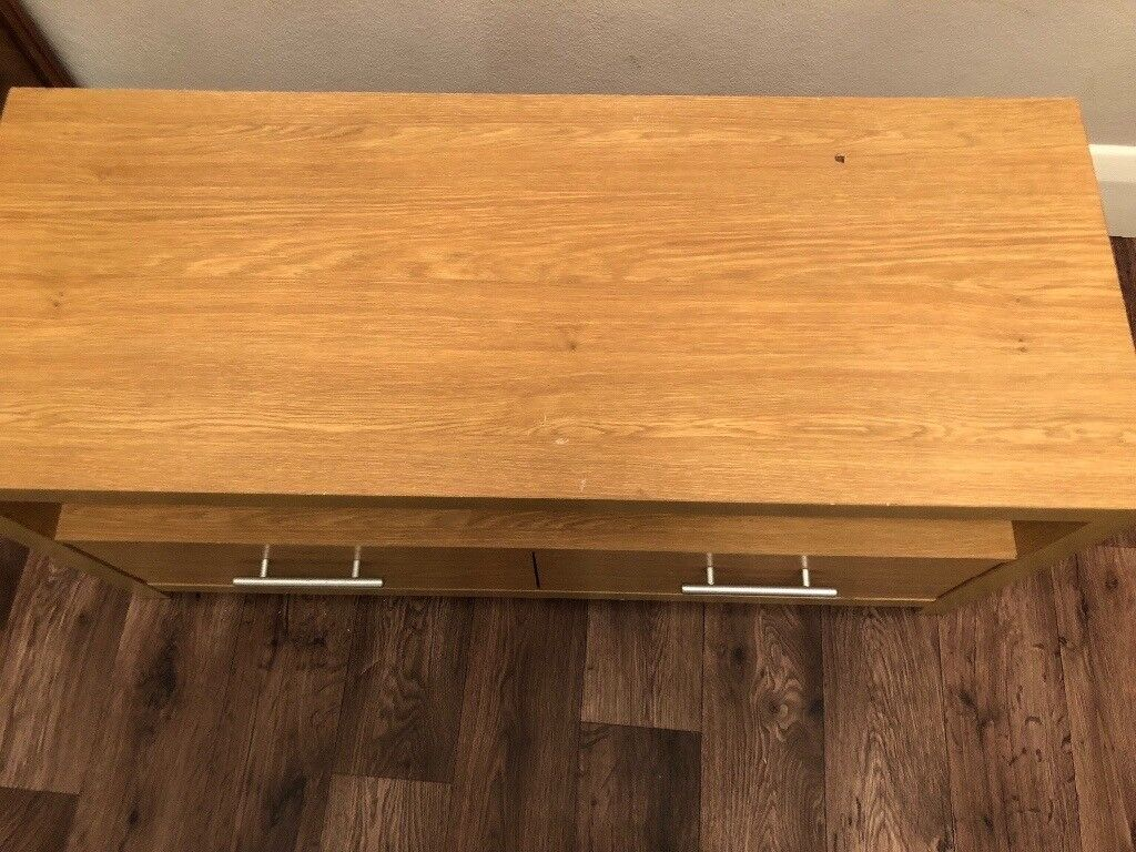 TV Unit- Length is 1 metre and height is 46cm.