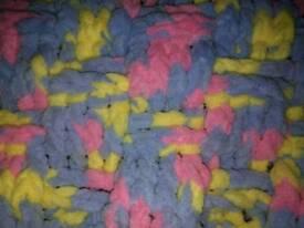 New crochet baby pram blanket
