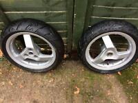 Moped alloy wheels