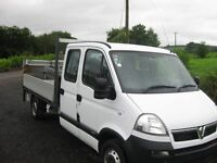 2009 VAUXHALL MOVANO 7 SEATER DROPSIDE WITH TAILIFT