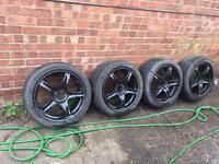 "Set of 4 17"" Subaru alloy wheels 5x100 fitment"
