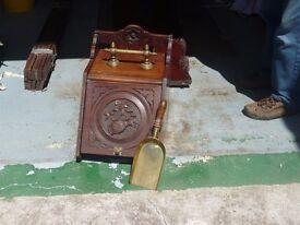 Antique mahogany coalbox/perdonium