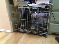 Metal Two Door Dog Crate (Size Small)