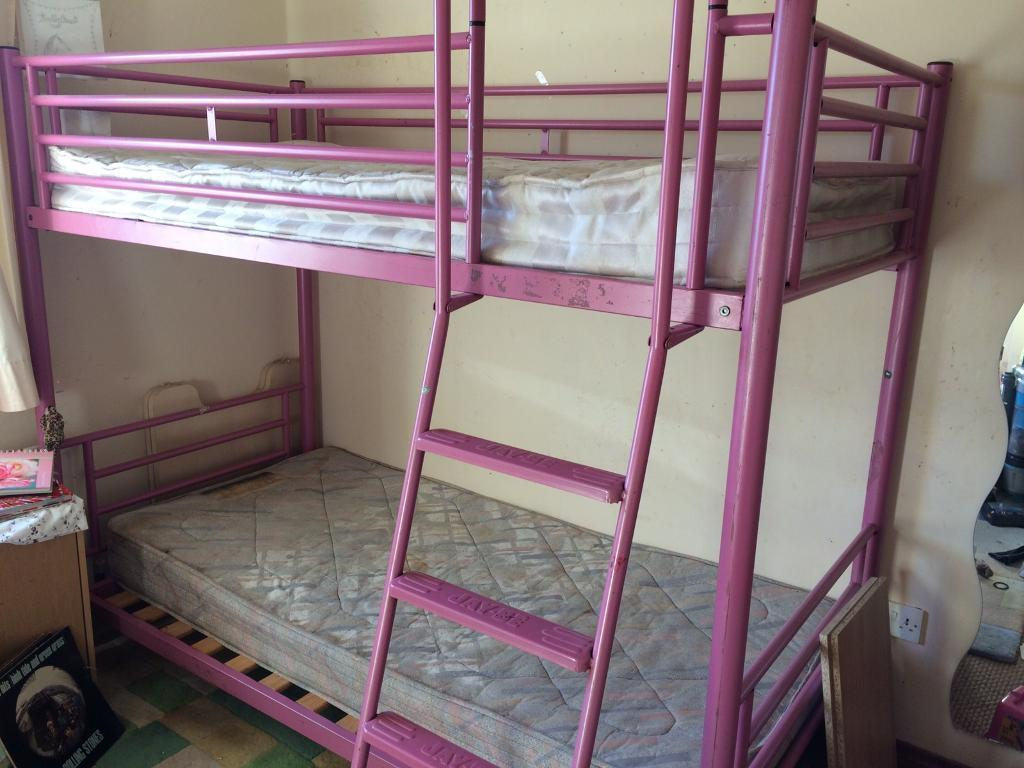 Pink jay be bunk bed in banbridge county down gumtree for Jay be bunk bed