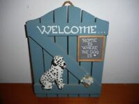 VALENTINE GIFT DALMATION DOOR/WALL SIGN WOOD AND RESIN