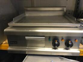 Electric chrome top flat griddle commercial catering kitchen equipment restaurant catering cafe shop