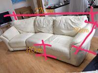 Cream Leather Sofa for free