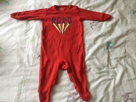 Next superhero sleepsuit 0-3 months