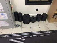 York Fitness Weight's Plate set (With York bars)