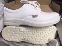 TUSKERS 622 SAFETY TOECAP SHOES WHITE LACE UP SIZE UK 9
