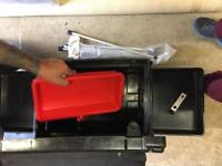 Galaxy fishing seat box with extras.