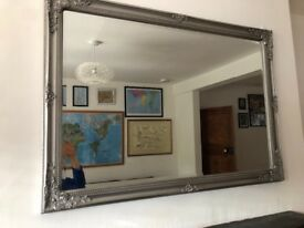 Mirror large in silver frame