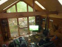 7m x 4m Cedar Log Cabin / Garden Studio / Office / Summerhouse