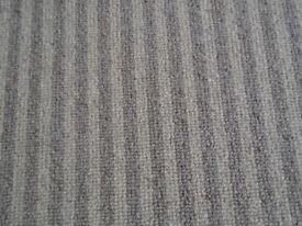 Free carpet offcut 100% wool, beige stripes approx 180 x 96cm