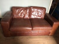 Next leather 3 seater sofa