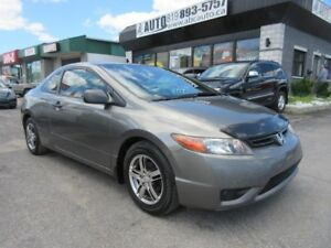 2007 Honda Civic Coupe DX Coupe, Standard transmission, Sunroof
