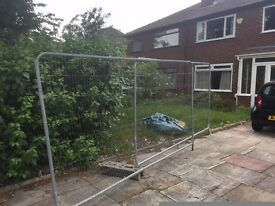 Temporary site fence - two panels with weighted block 6ftx11ft £20 on offer