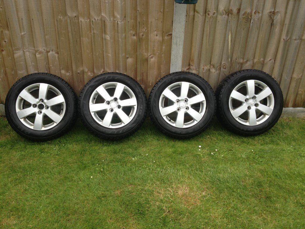 Worksheet. 4 Suzuki Swift alloy wheels with winter tyres  in Brightlingsea