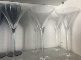 5 x Clear Martini Glasses from Marks & Spencer