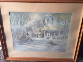 Framed Print of a House with scenery