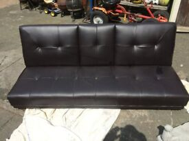 (SOFA BED) (ABSOLUTELY LIKE NEW STILL) NOT REALLY USED (THE LEATHER IS EXCELLENT) CAN DELIVER