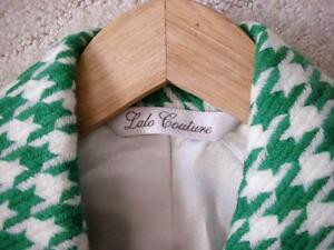 Women's Vintage Retro Style Kelly Green White Houndstooth Coat Windsor Region Ontario image 5