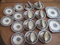 CROWN DUCAL FLORENTINE 24 PIECE PORCELAIN/CHINA TEA SET (1954) 1954 Stamped on the base of pieces