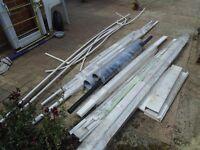 plastic pipes sheets off cuts