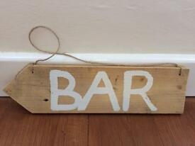 Wooden Bar Sign (wedding)