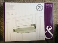 Cooke & Lewis, CLVH60SS-C, Stainless Steel Effect Integrated Cooker Hood, (W) 600MM