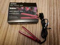 BaByliss Pro 200 Nano Hair Straightener Pink travel