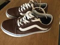 Vans size 5 Brown (like new) trainers