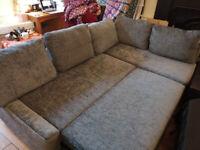 Corner sofa-bed with storage dark grey - IKEA