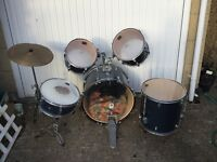 CB drum kit, well used but excellent beginners set