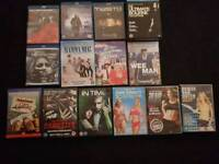 Selection of 14 dvds and blue rays /box sets